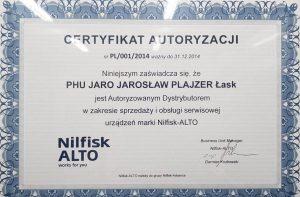 Certyfikat nilfisk